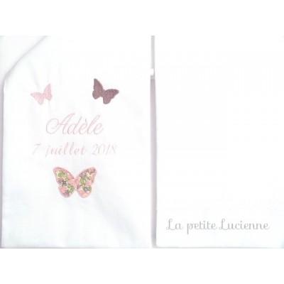 Echarpe de baptême papillons liberty (modèle U)