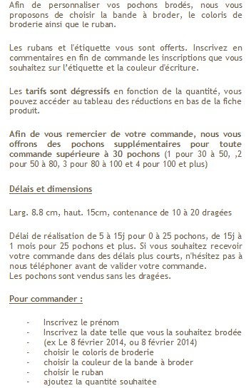 Explication pochon