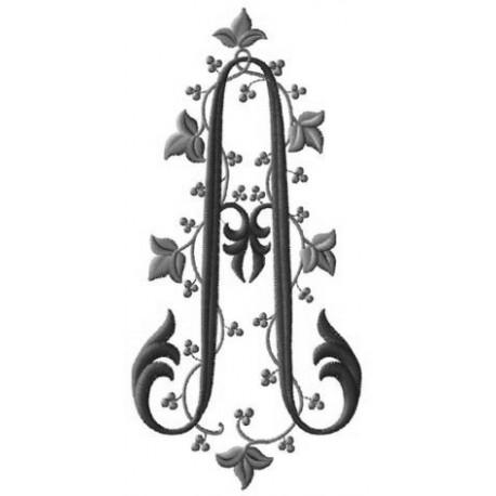 Gabriel: grand monogramme à coudre