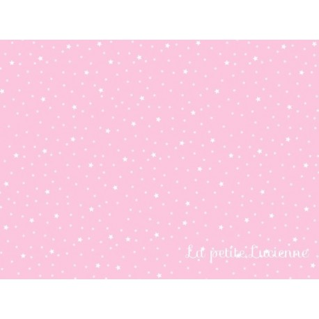Tissu étoiles rose jacinthe