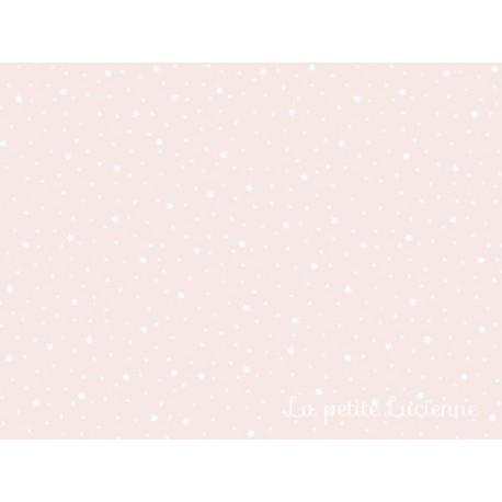 Tissu étoiles nude