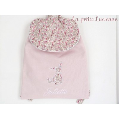 Sac à dos personnalisable en liberty Eloise rose