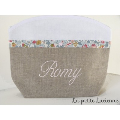 Trousse de toilette fille en liberty