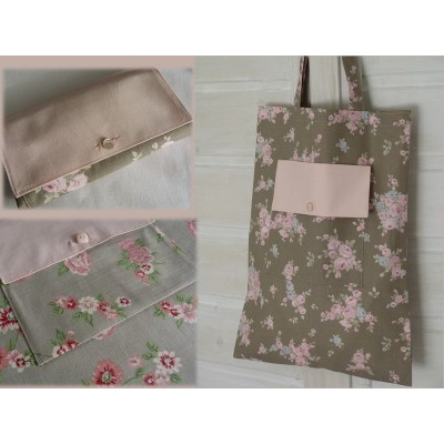 Sac shopping pliable shabby chic