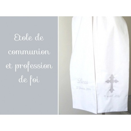 Etole de communion brodée