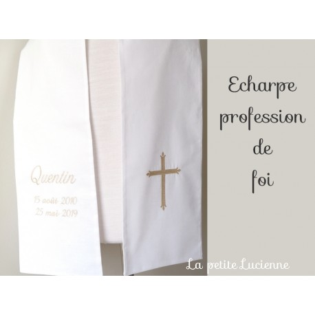 Echarpe communion profession de foi
