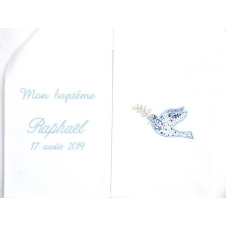 Etole blanche de baptême colombe