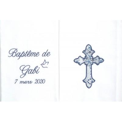 Echarpe de baptême brodée personnalisée selon vos souhaits