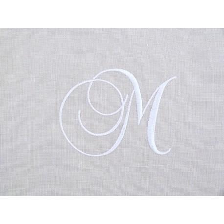 Monogramme M gris
