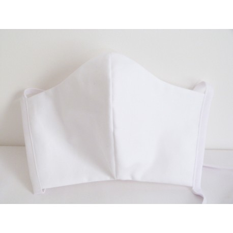 Masque en tissu blanc
