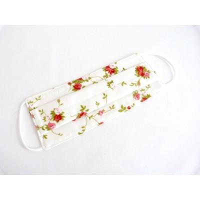 Joli masque lavable coton fleuri (modèle femme)