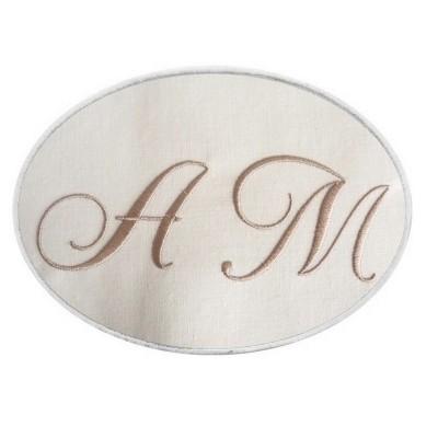 Emma: 2 initiales monogrammes en médaillon