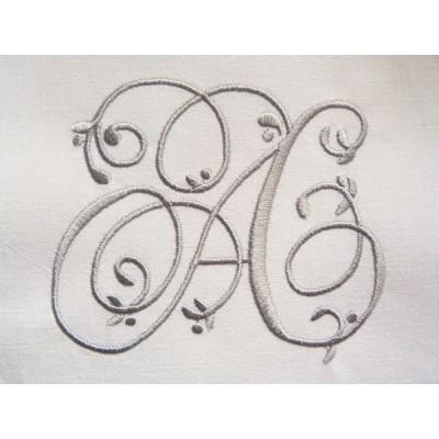 AUGUSTE: monogramme style ancien à coudre