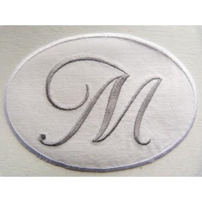 Monogramme Emma, petit monogramme médaillon